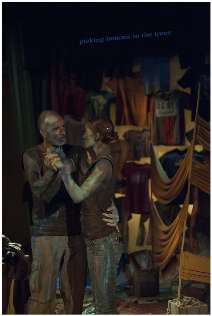two actors dancing