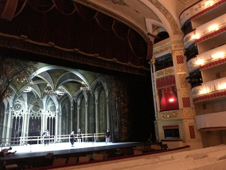 Inside the Alexandrinsky Theatre.