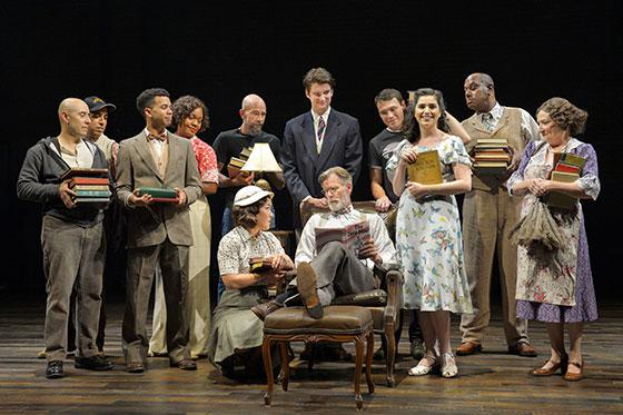 The cast on stage