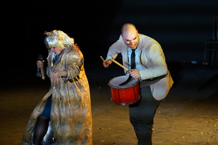 Two actors performing
