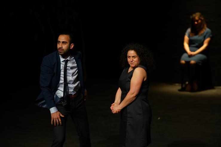 Three actors performing