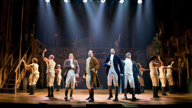 Original Cast of Hamilton on Broadway.
