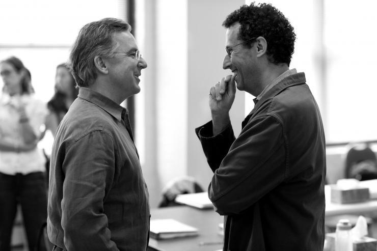 Jim and Tony Kushner talking