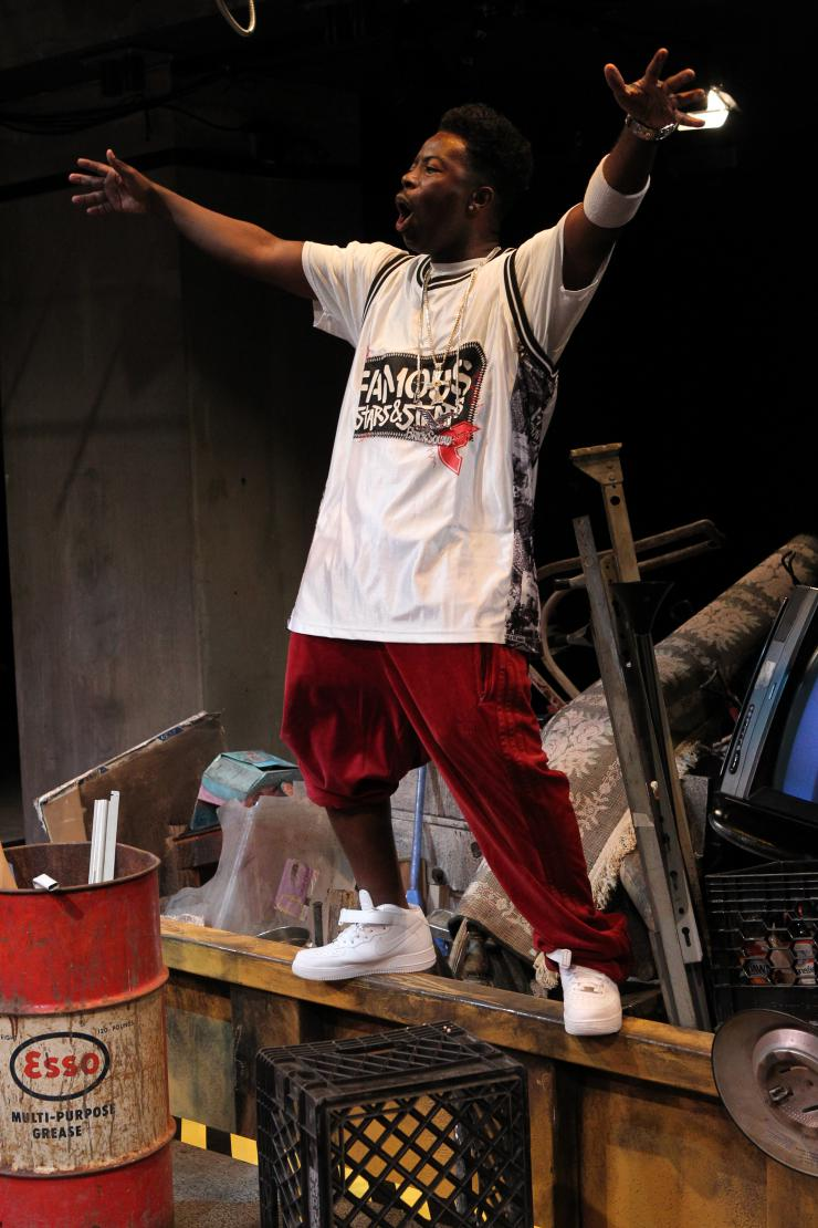 An actor on stage