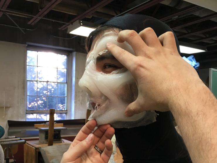Costumers working with actors
