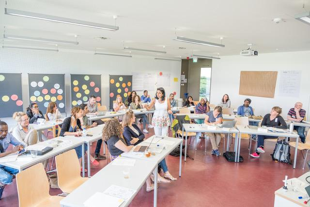 artists in a classroom