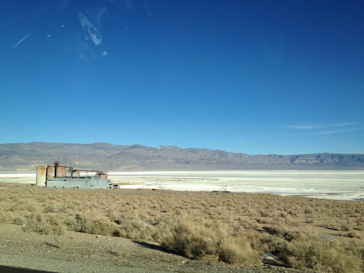 a desert area