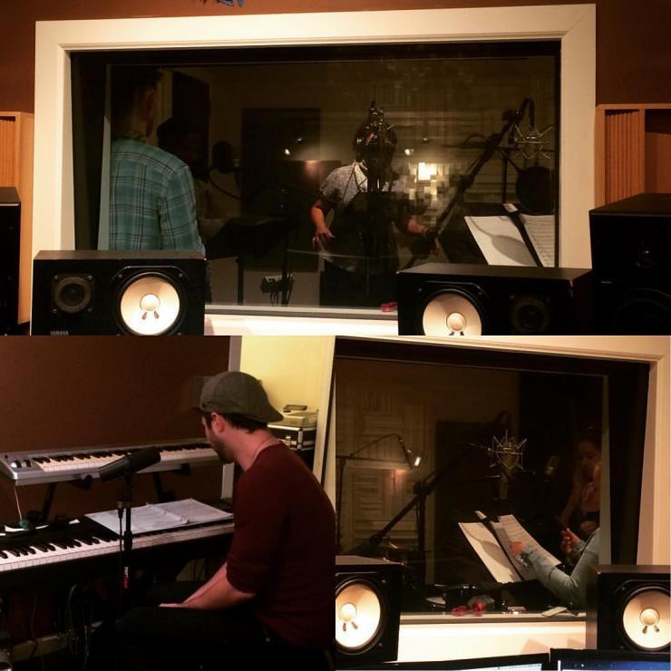 EllaRose Chary in a recording studio