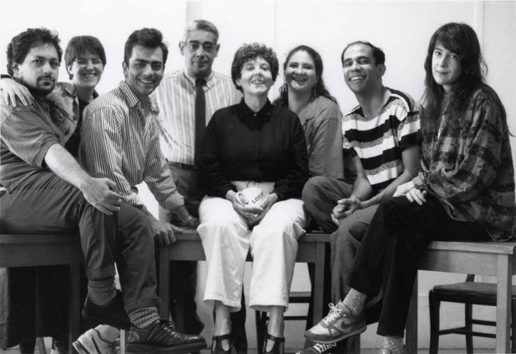 company photo, with Fornes at the center
