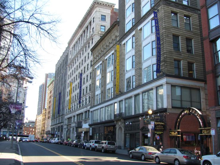 Emerson's campus on Boylston Street