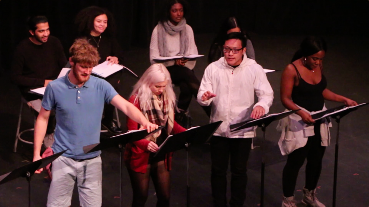 actors in a staged reading