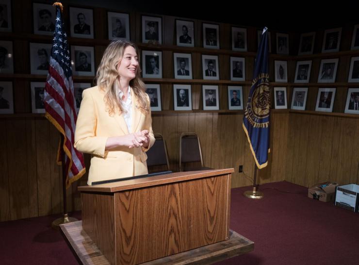 actress giving a speech