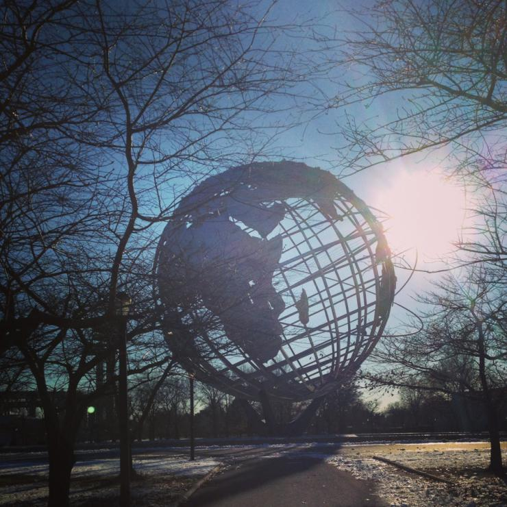 a sculpture of the globe