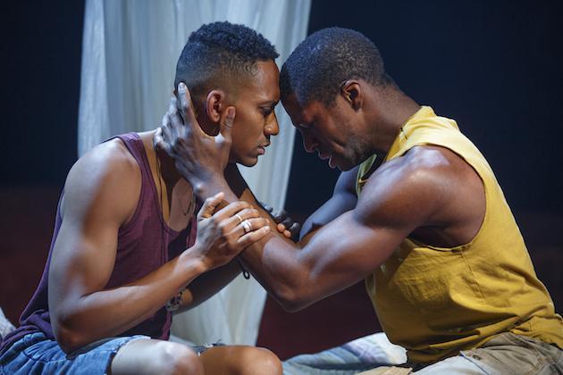 two men performing