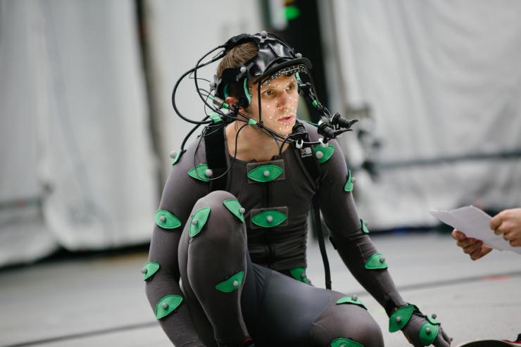 performer in lycra suit