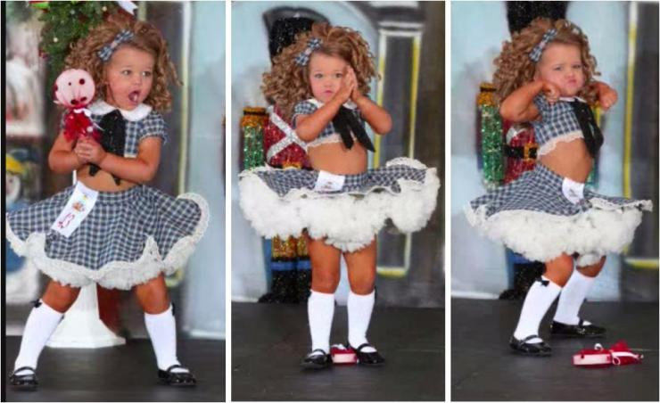 a young girl dancing in costume