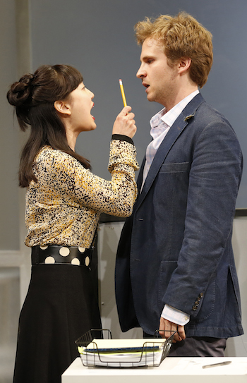 Two actors arguing