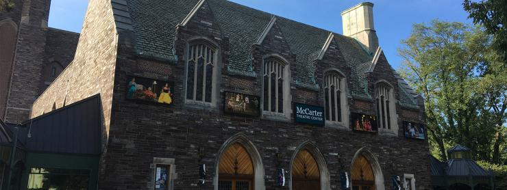 The outside of McCarter Theater