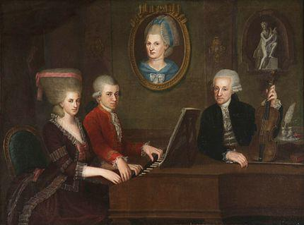Painting of the Mozart family