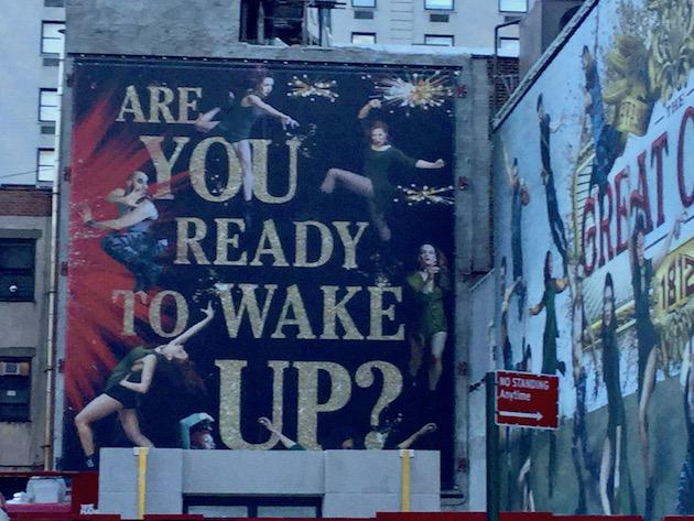 """Slogan """" Are You Ready to Wake Up"""""""