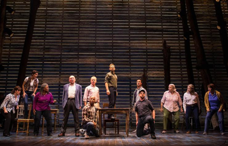 Cast of Come from Away on stage