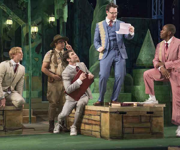five men performing