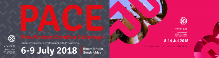 Pan-African Creative Exchange and the Vrystaat Arts Festival logos