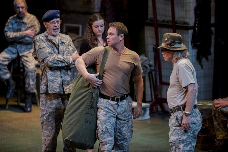 performers in uniform