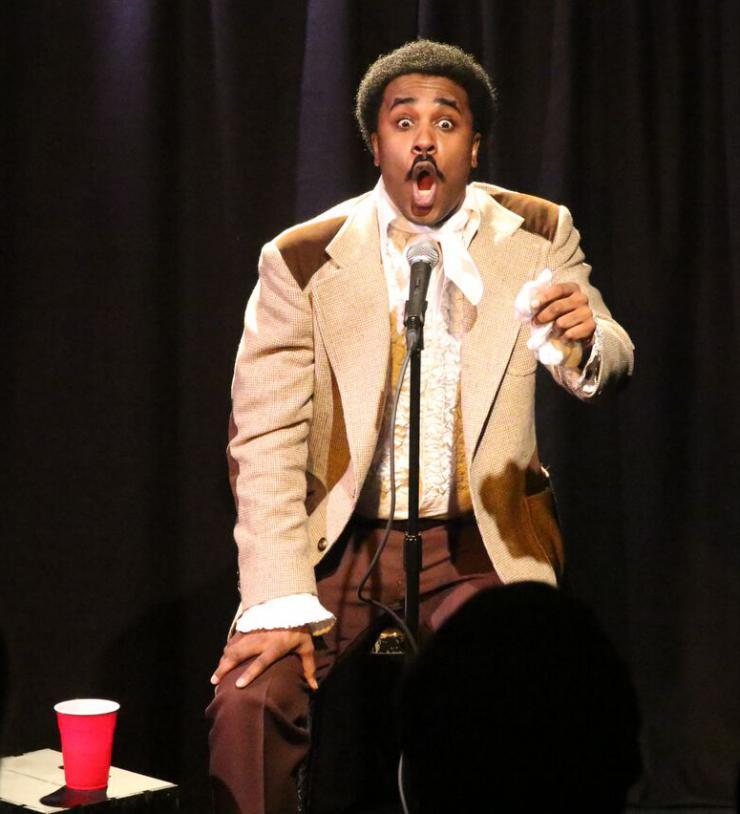 a man singing