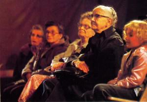 An audience watching a production