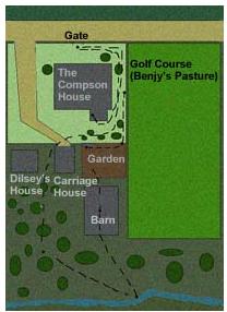 Map/floor plan of hosue