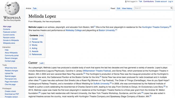 screenshot of a wikipedia page