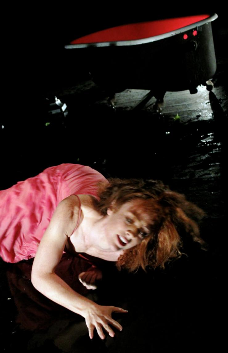 an actor on the floor