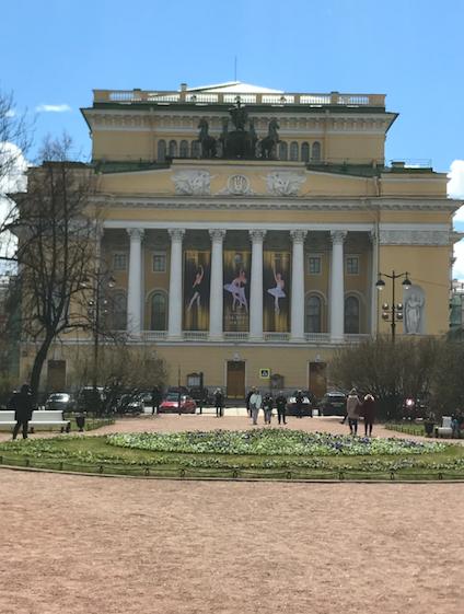 Alexandrinsky Theatre, St. Petersburg, Russia.