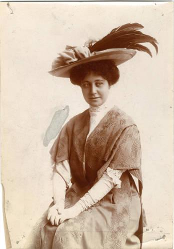 vintage photo of an actress