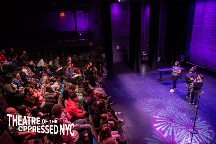 Full-house Theatre of the Oppressed NYC event