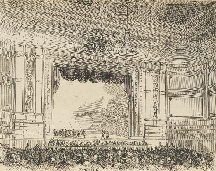 drawing of theatre