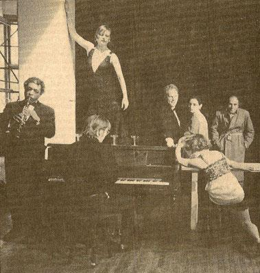 Performers playing instruments