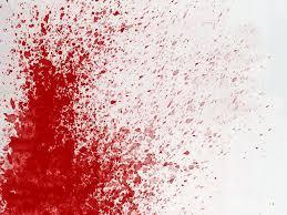 A blood splatter