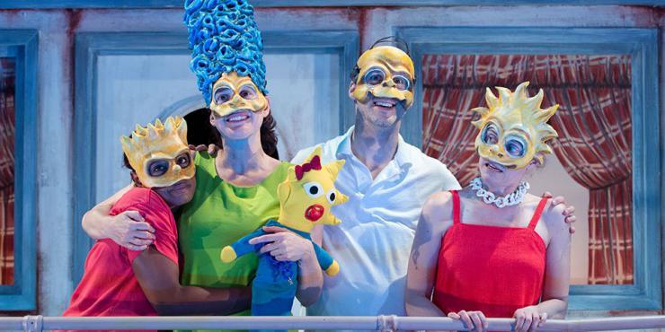 actors wearing masks