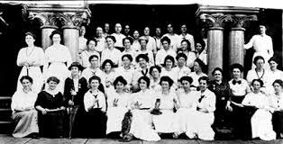 a group of women sitting together