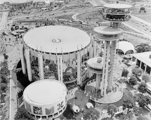 The 1964 worlds fair from above