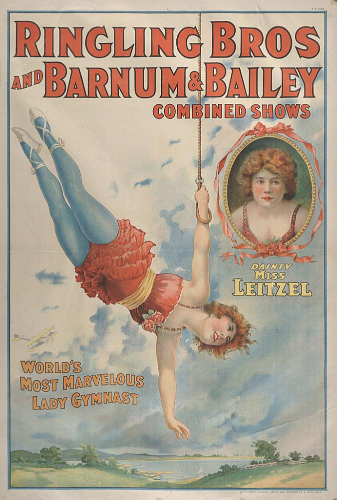 Illustrated poster of Lilian Leitzel