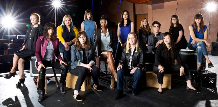Many female playwrights on stage