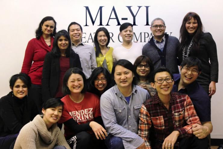 Artists in the Ma-Yi Writers Lab gathered for a photo