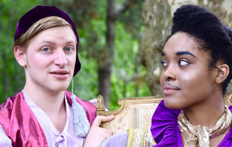 two people in shakespearean costumes