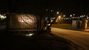 NPF Outdoor area at night