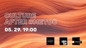 tan textured background, text culture after #metoo