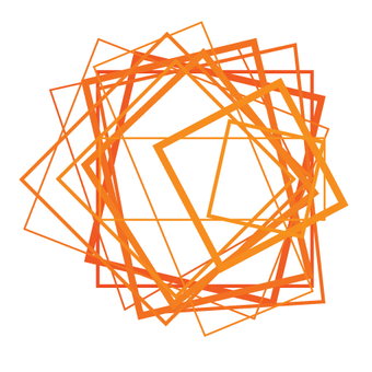 scattered orange square outlines