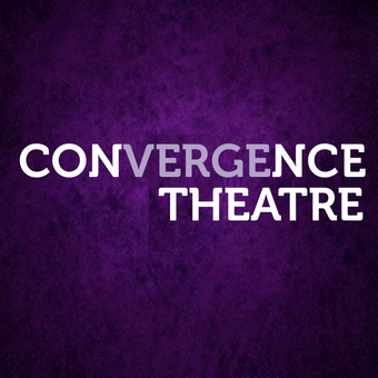 purple background with white convergence theatre